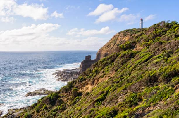 Cape Schanck Lighthouse - Mornington Peninsula stock photo