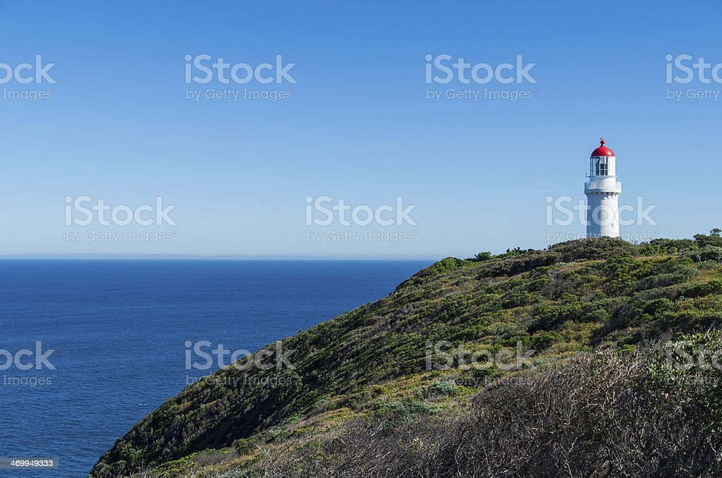 Cape Schanck lighthouse on top of a cliff stock photo