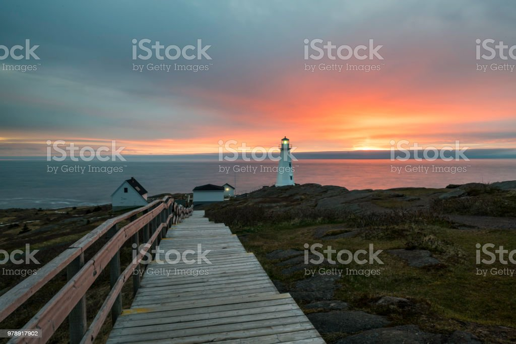 Cape Spear Lighthouse National Historic Site stock photo