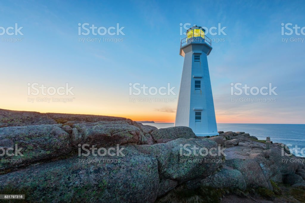 Cape Spear Lighthouse near St John's Newfoundland Canada stock photo