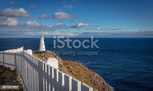 Historic Cape Spear Lighthouse in Newfoundland and Labrador, Canada. Overlooking the Atlantic Ocean