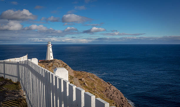 Cape Spear Lighthouse overlooking the Atlantic Ocean - Photo