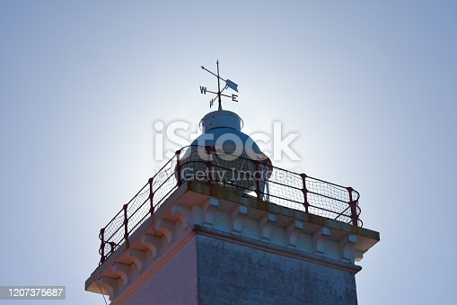 615497916 istock photo Cape St Blaize Lighthouse With Sunlight Glow 1207375687