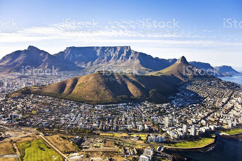 Cape Town aerial, South Africa stock photo