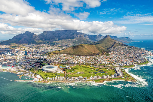 Cape Town And The 12 Apostels From Above Stock Photo - Download Image Now