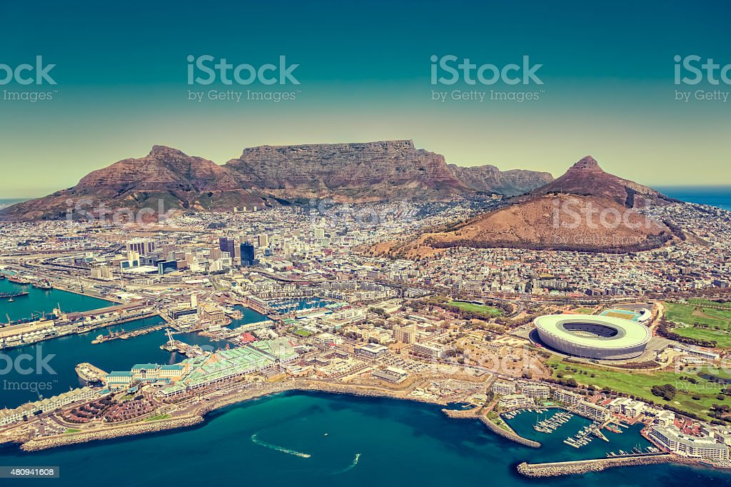 Cape Town birds view stock photo