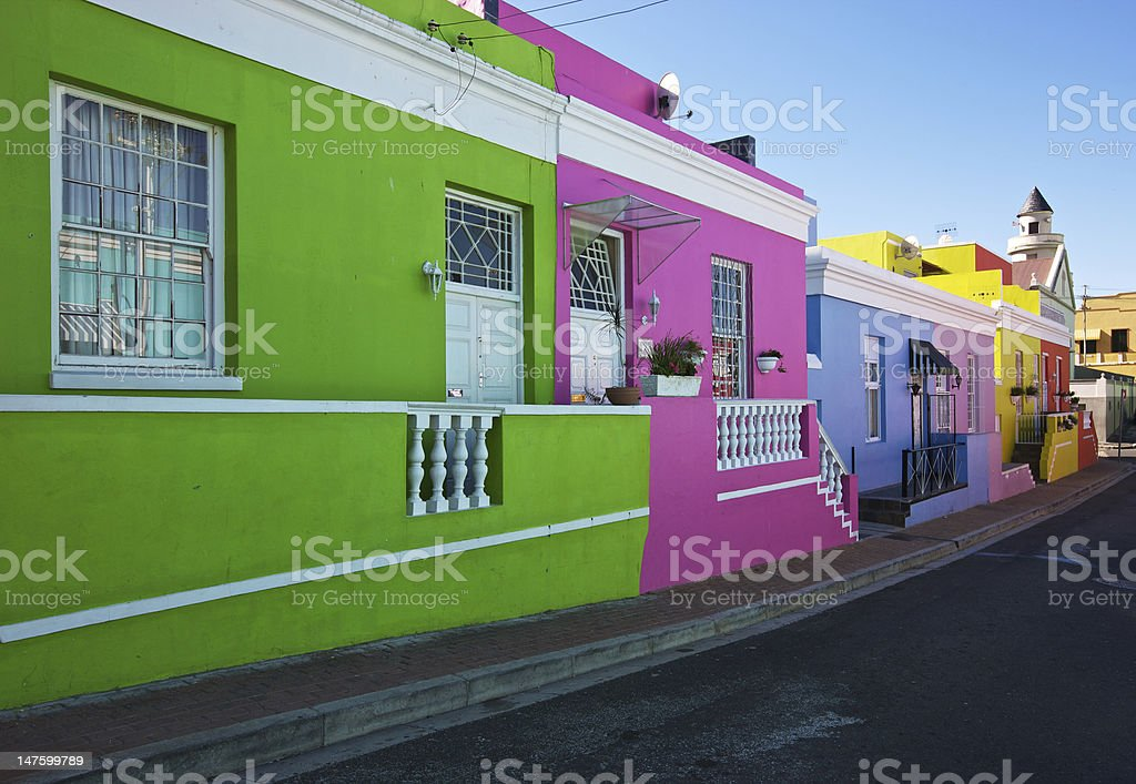 Cape Town Bo Kaap slave houses stock photo