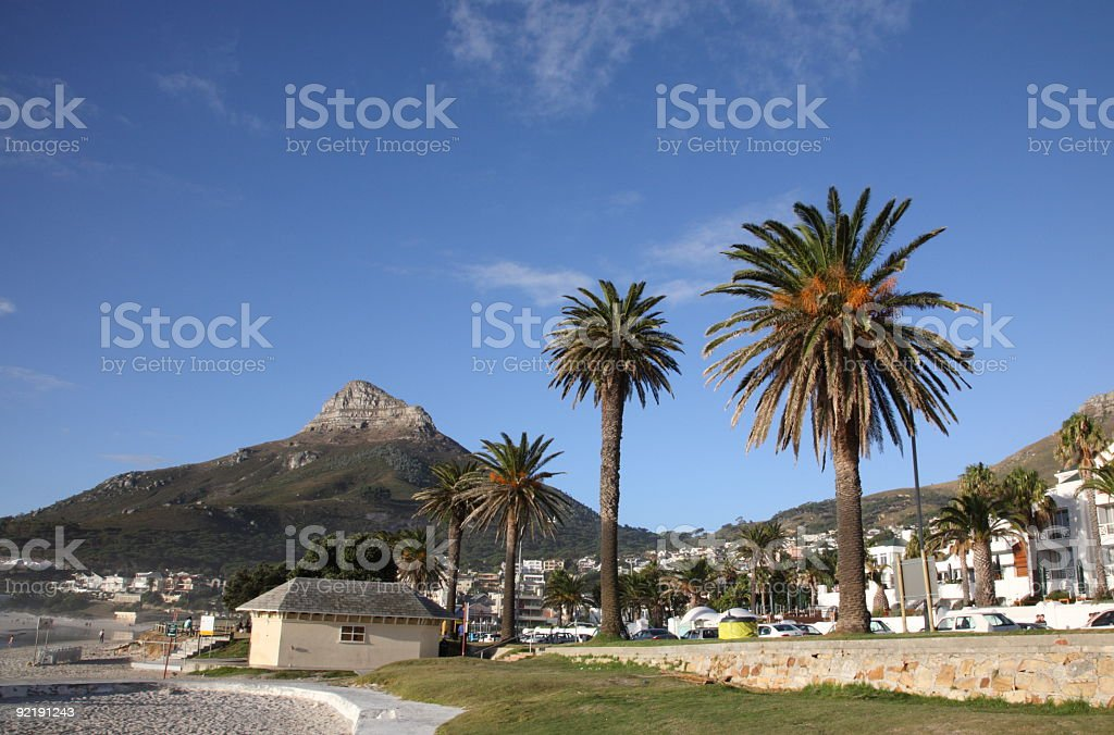 Cape Town camps bay stock photo