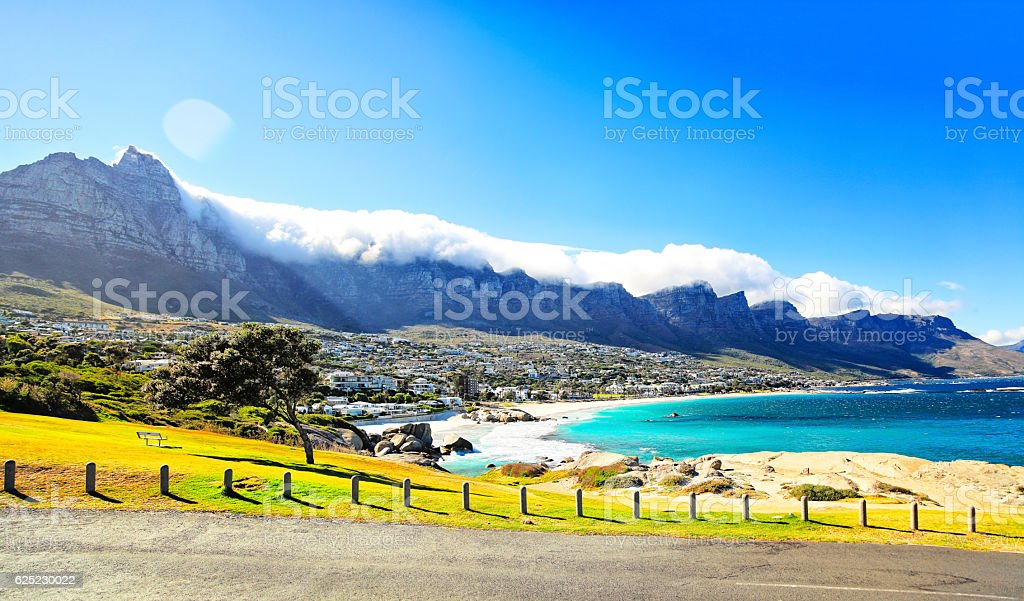 Cape Town - Camps Bay view stock photo