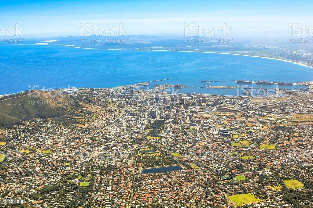 Cape Town City Bowl stock photo