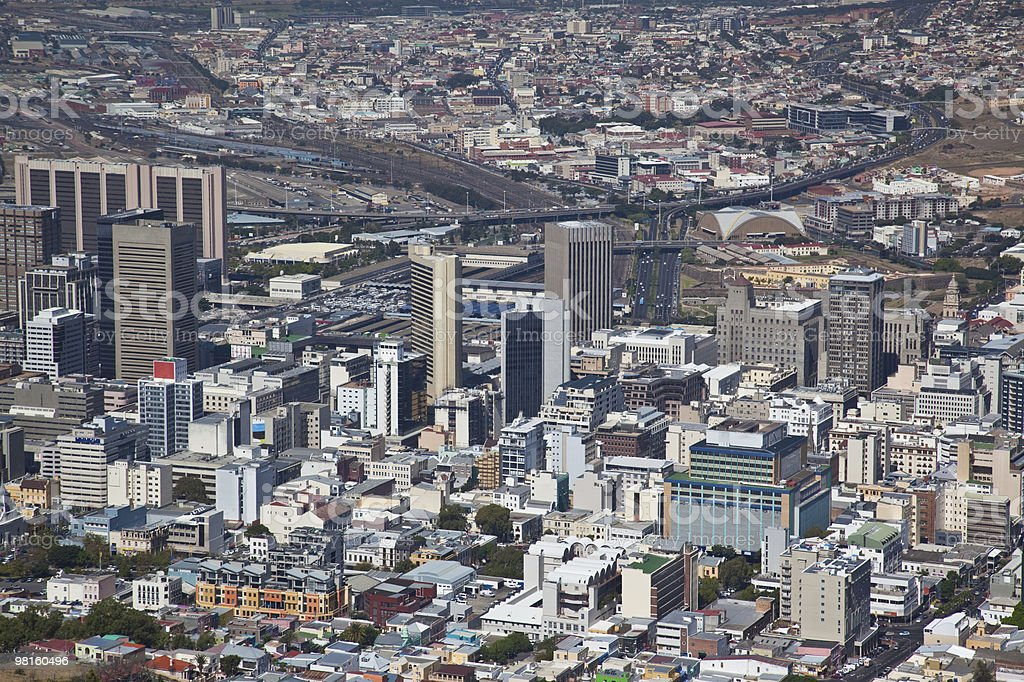 Cape Town City Cente from Signal Hill royalty-free stock photo