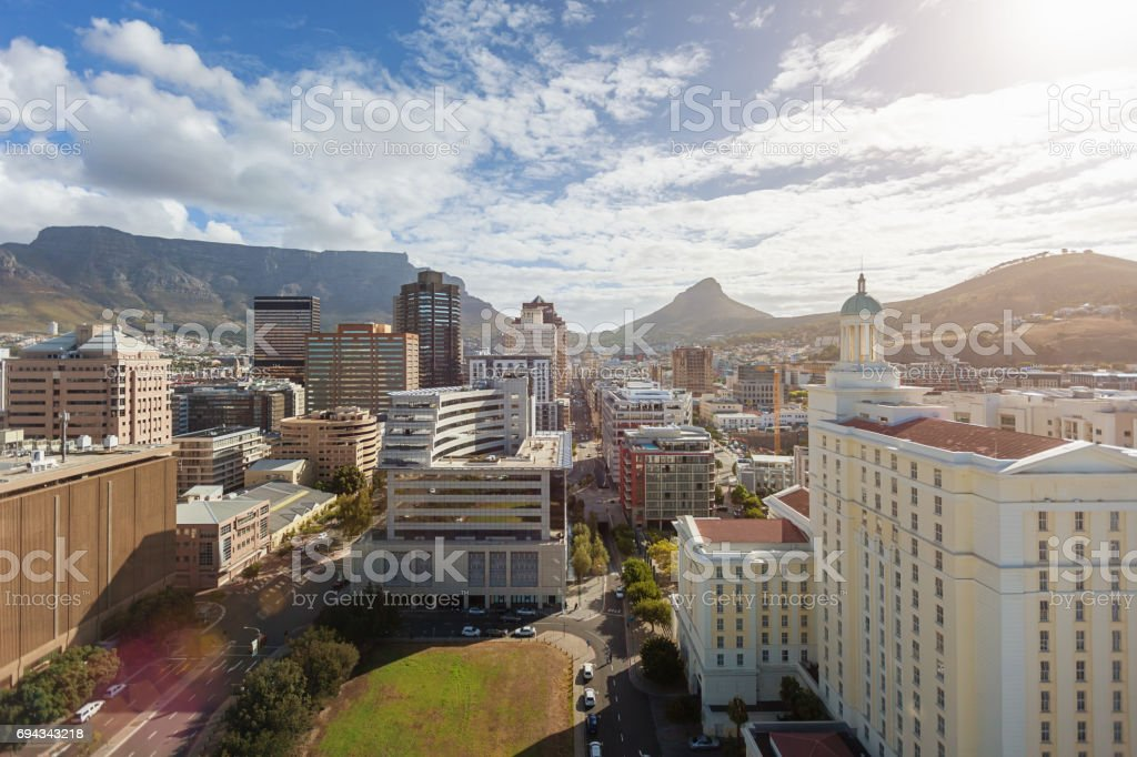 Cape Town City Downtown Business District South Africa stock photo