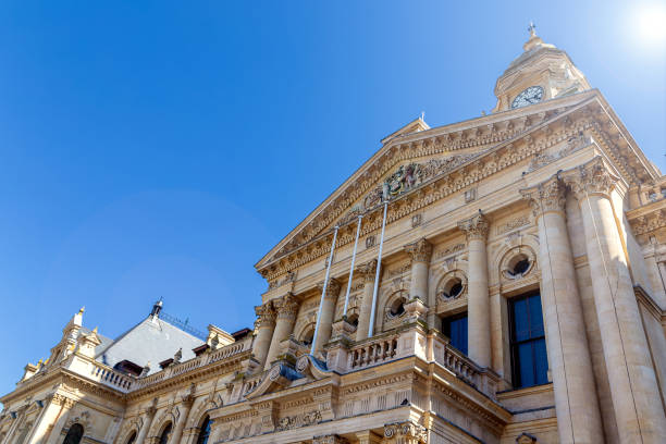 Cape Town City Hall historical building in downtown stock photo