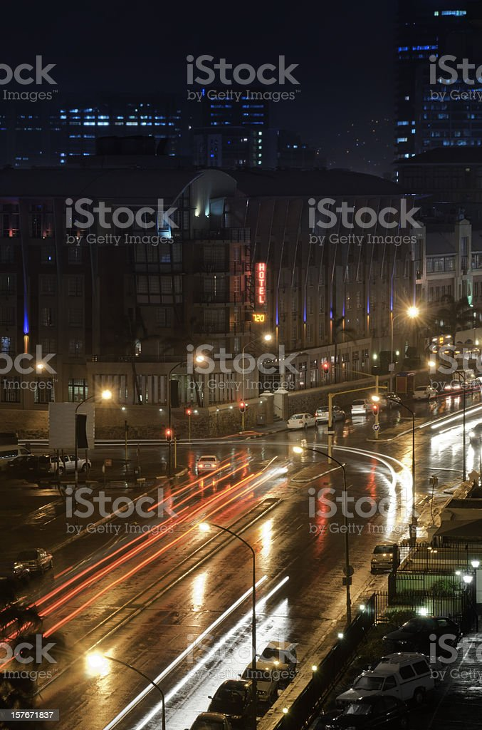 Cape Town City Lights royalty-free stock photo