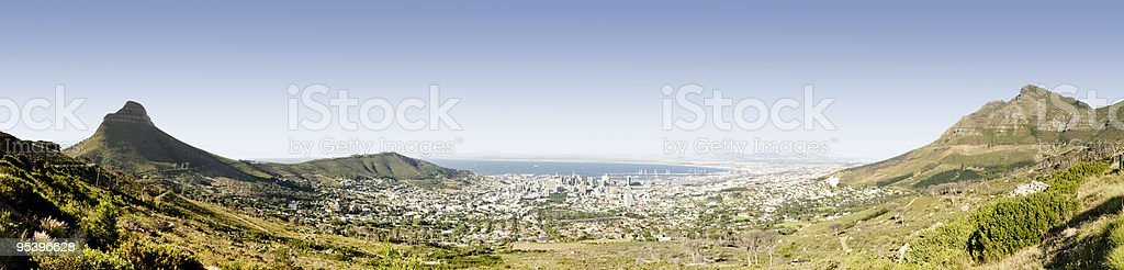 Cape Town city panorama royalty-free stock photo