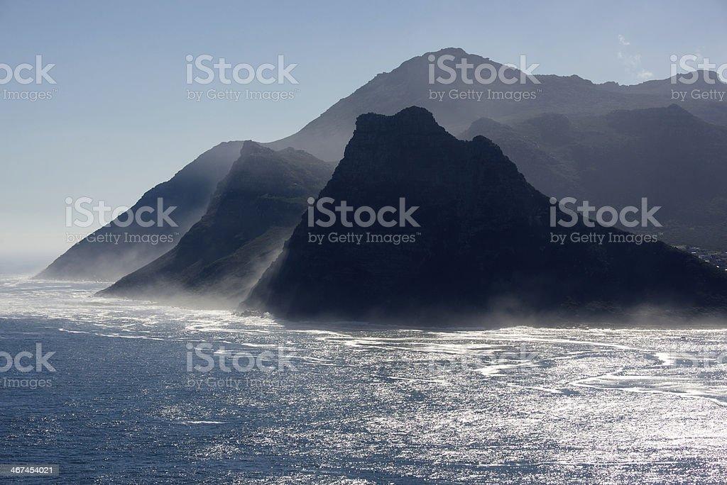 Cape Town Coastal Sentinel Peaks stock photo
