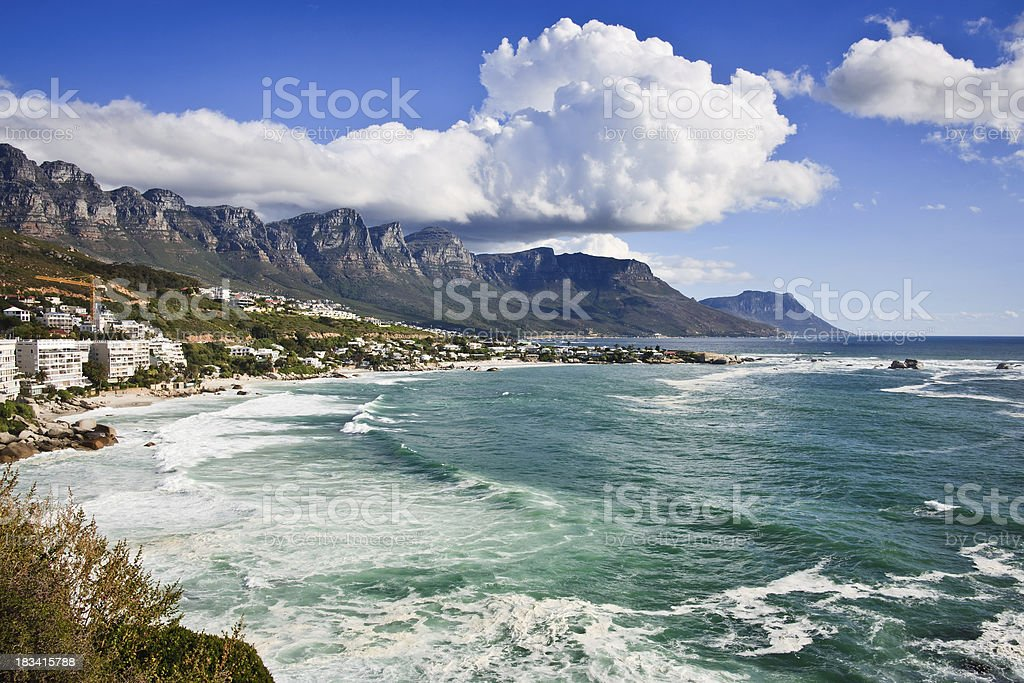Cape Town Coastline stock photo