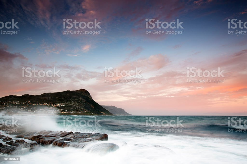 Cape Town Dusk stock photo