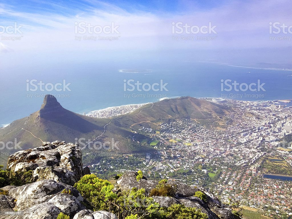 Cape Town from above royalty-free stock photo
