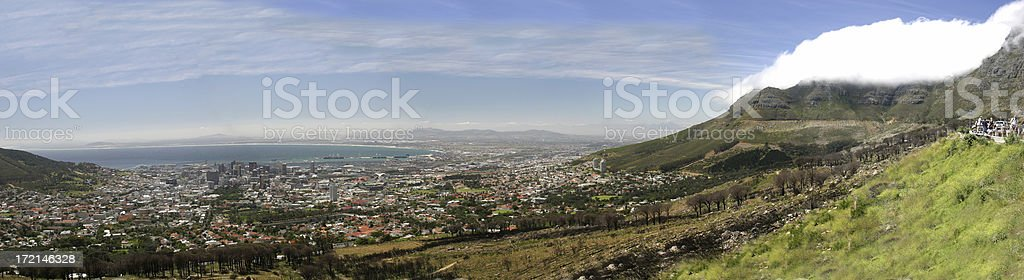 cape town from table mountain royalty-free stock photo