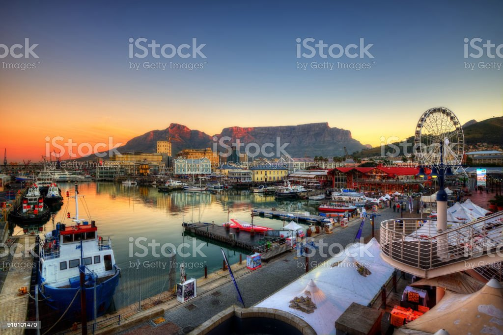 Cape Town Harbour, South Africa stock photo