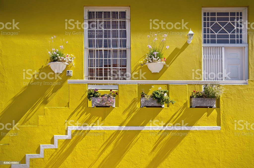 Cape Town, South Africa - Brightly painted house in Bo-Kaap stock photo
