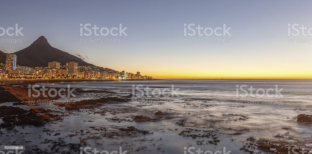 Cape Town South Africa Night Panorama stock photo