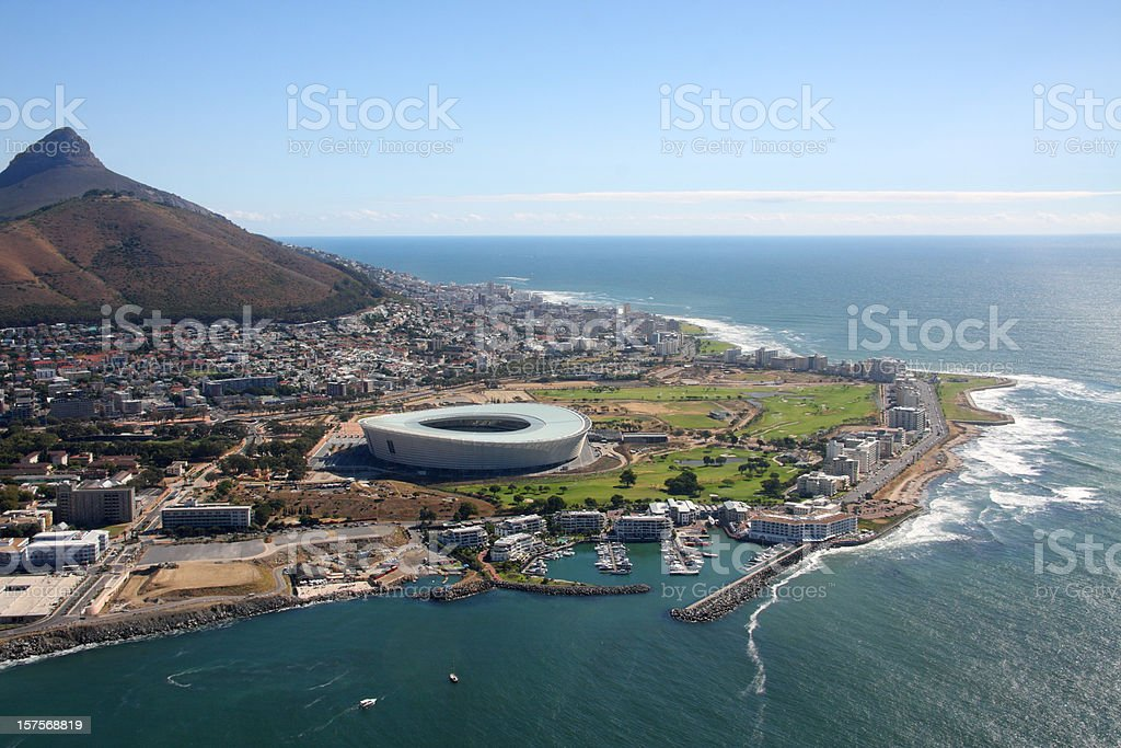 Cape Town Stadium Aerial view stock photo