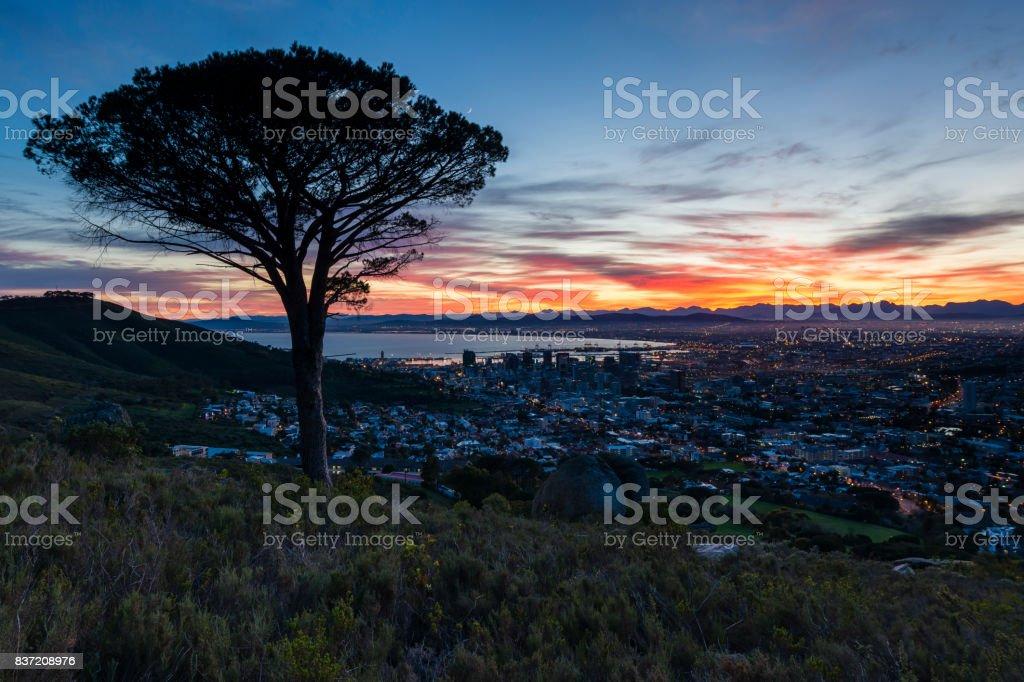 Cape Town Sunrise 2 stock photo
