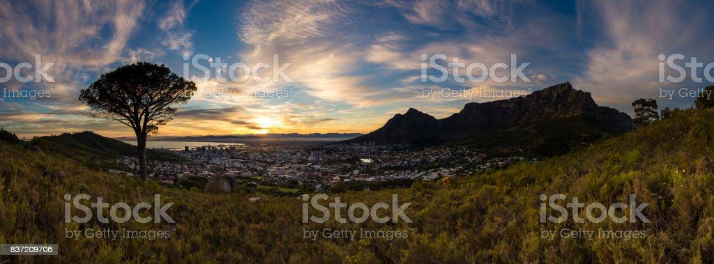 Cape Town Sunrise Panorama 4 stock photo