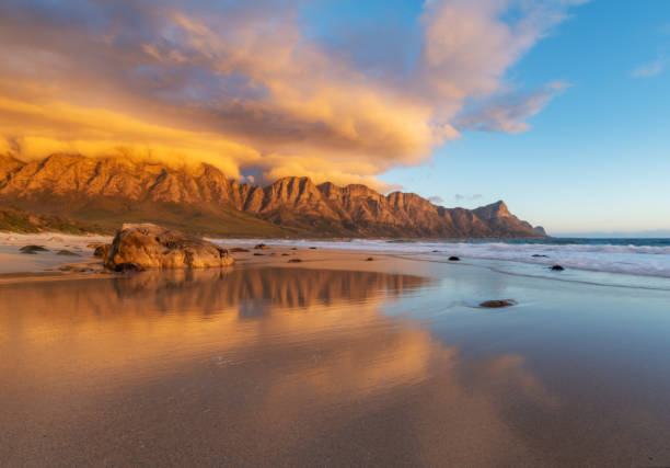 Cape Town sunset stock photo
