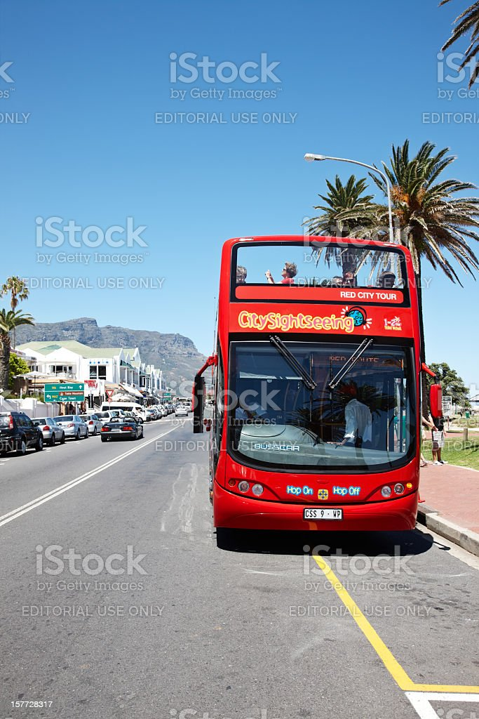 Cape Town tourist bus stock photo