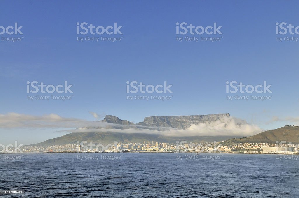 Cape Town Under Table Mountain royalty-free stock photo