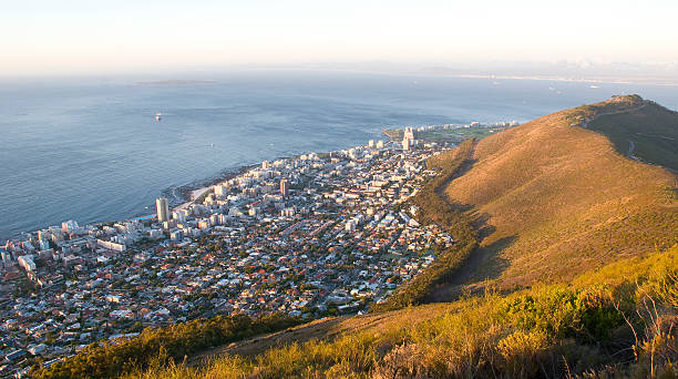 Cape Town view from Lions Head mountain - South Africa stock photo