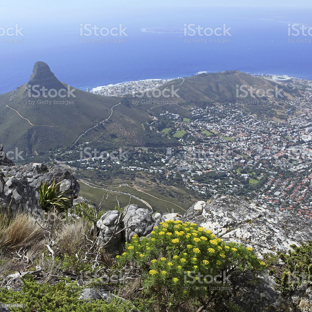 Cape Town - View from Table Mountain stock photo