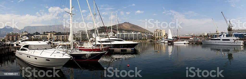 Cape Town Waterfront Panoramic royalty-free stock photo