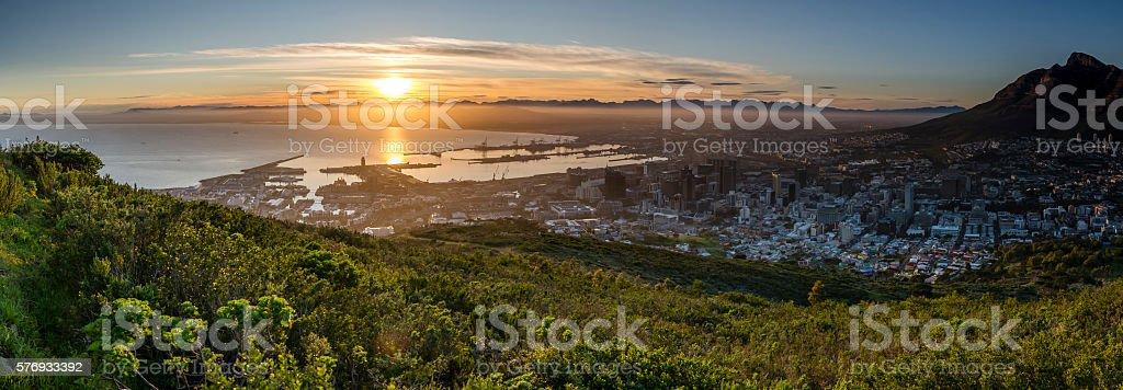Cape Town Winter Sunrise stock photo