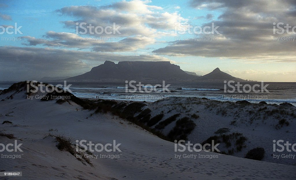 Cape Town-Table Mountain stock photo