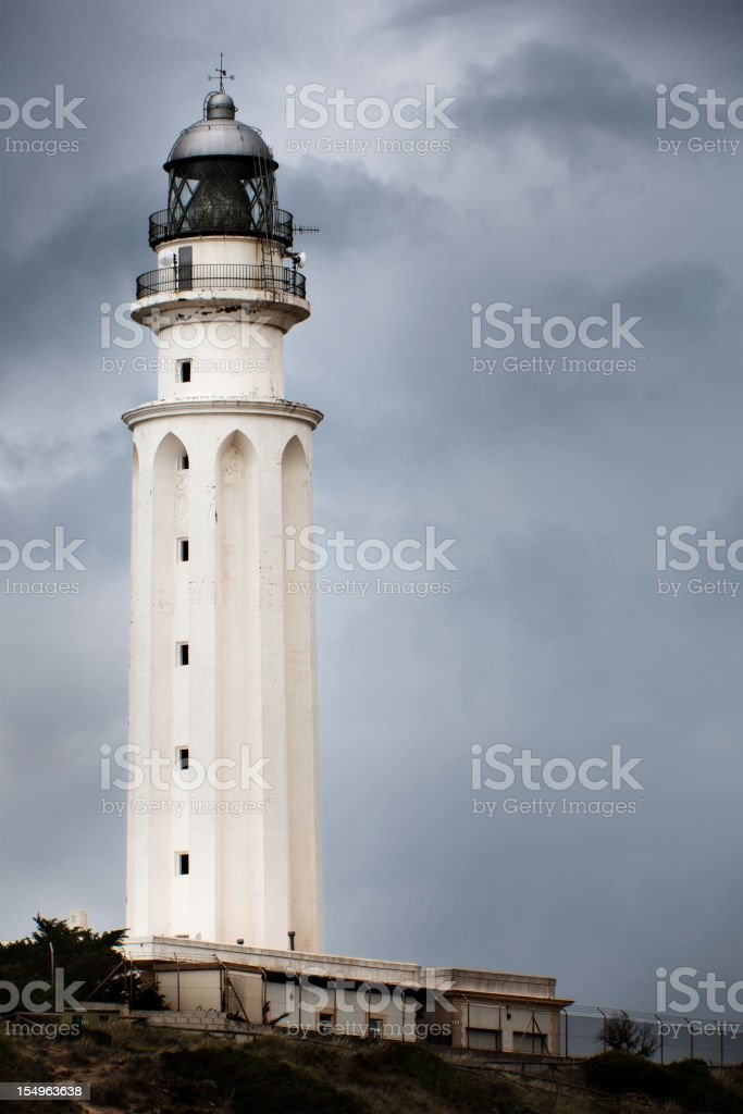 Cape Trafalgar during a storm stock photo