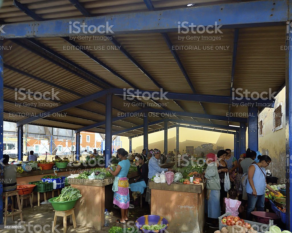 Cape Verde Farmers Market stock photo