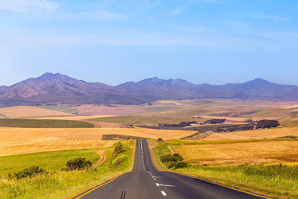 Cape winelands near Stanford in the Cape stock photo