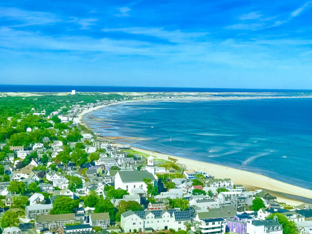 Cape-cod sea view from the Pilgrim Monument Massachusetts United States Cape-cod sea view from the Pilgrim Monument Massachusetts United States cape cod stock pictures, royalty-free photos & images