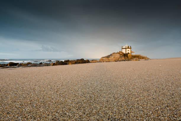 Capela do Senhor da Pedra, Miramar, Porto stock photo
