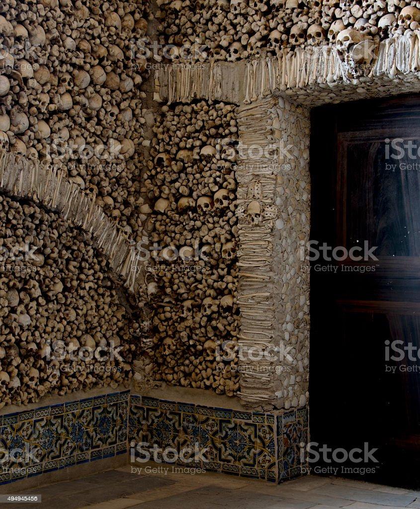Capela dos Ossos stock photo