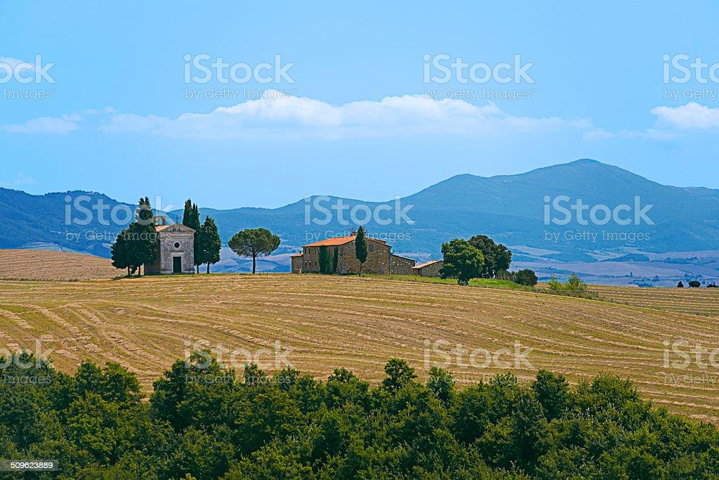 Capella Di Vitaleta stock photo