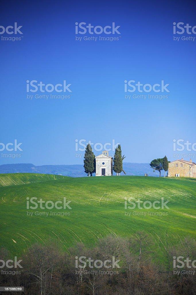 Capella di vitaleta, Tuscany stock photo