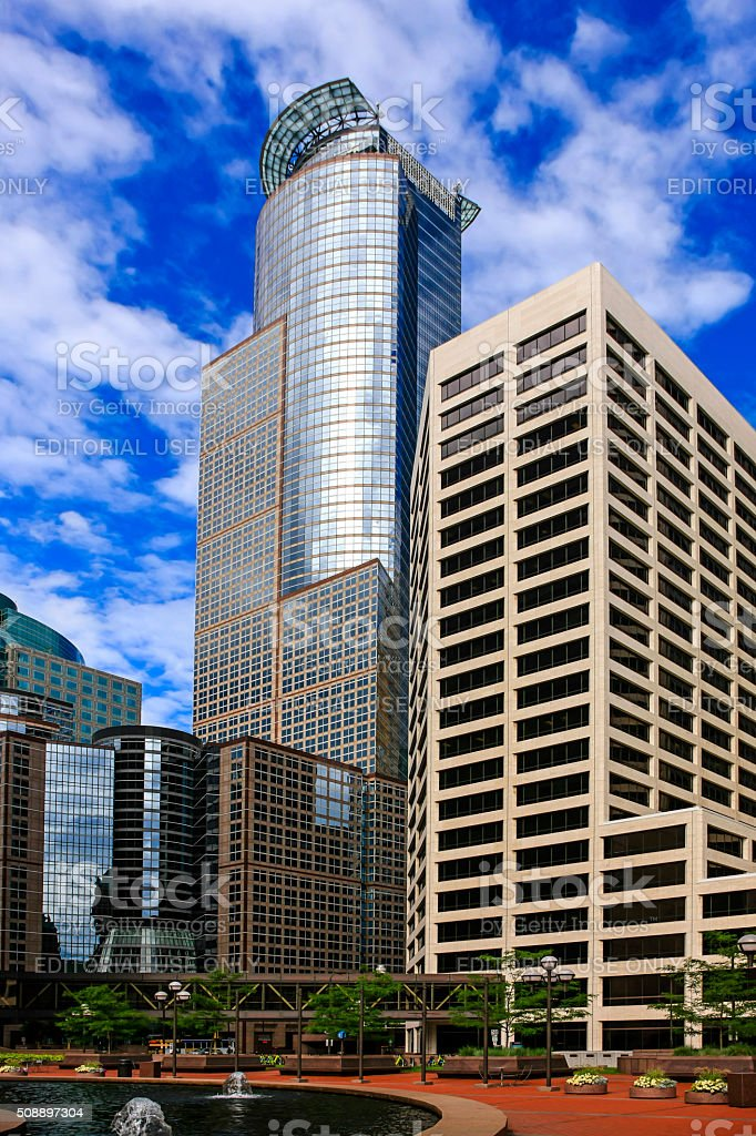 Capella Tower and Bachman's Bank buildings in Minneapolis MN stock photo
