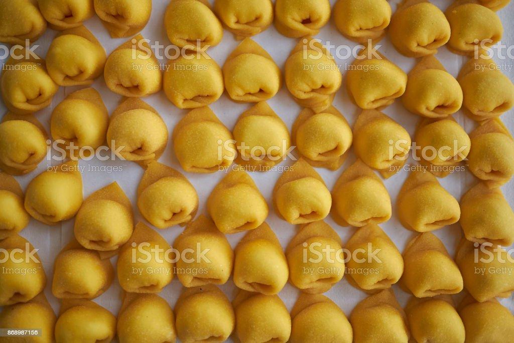 Capelletti pasta stock photo