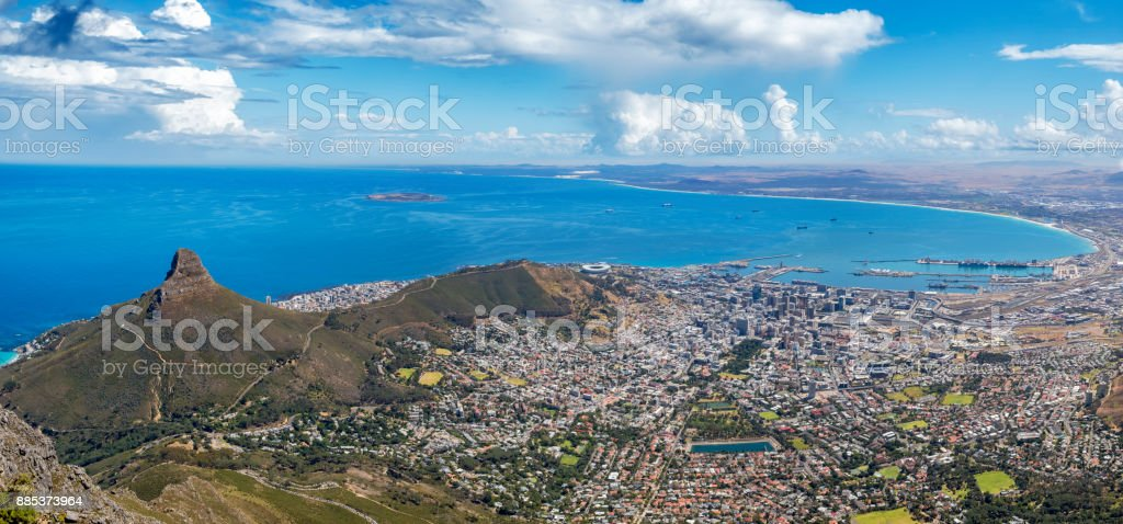 capetown panorama signal hill stock photo