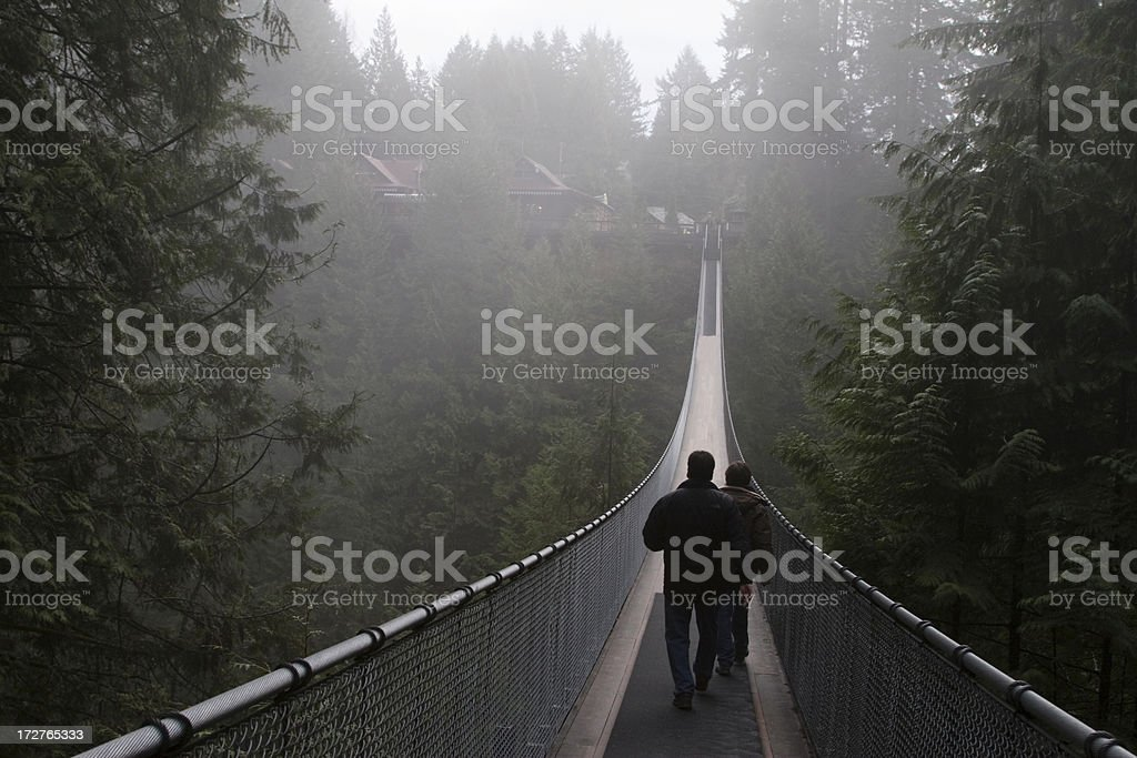Capilano Suspension bridge royalty-free stock photo